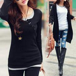 Champi - Mock Two-piece Long-Sleeve T-shirt