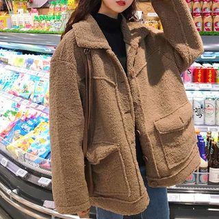 Rorah - Furry Single-Breasted Coat