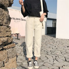 Ganache - 纯色直筒九分裤