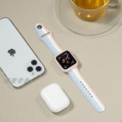 Phone in the Shell - Striped Silicone Apple Watch Band