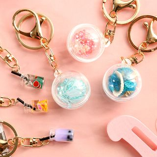 Hekki - Faux Crystal Ball / Miniature Milk Tea Keyring