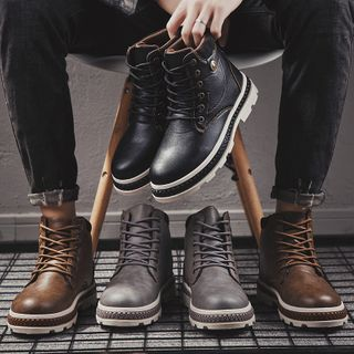 Viffara(ヴィファラ) - Lace-Up Ankle Boots