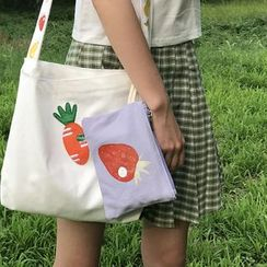 TangTangBags(タンタンバッグズ) - Printed Canvas Pouch