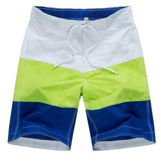 Carser - Color Block Beach Shorts