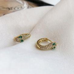 Kokyu - Rhinestone Snake Earring