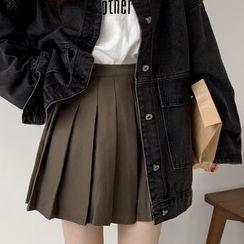 Moon City - Denim Jacket / Pleated Skirt