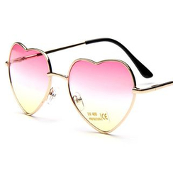 Aisyi - Heart Shaped Gradient Sunglasses