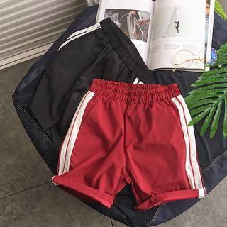 MIKAEL - 配色條紋運動短褲