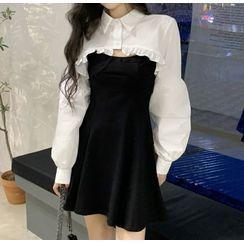 Apotheosis - 套裝: 短款襯衫 + 細肩帶迷你A字連衣裙
