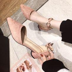 clog & wings - 低跟尖頭涼鞋