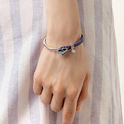 Muscovite - Swarovski Elements Crystal Heart Bracelet