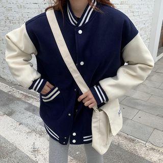 Moon City - Snap-Button Baseball Jacket