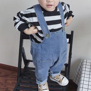 MOM Kiss - Kids Striped Sweatshirt / Dungaree