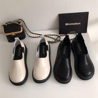 DURAC(デュラック) - Plain Faux Leather Slip-Ons