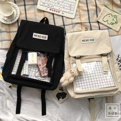Chestnut Party - Print Applique Backpack