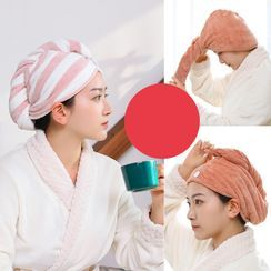 Good Living - Set of 3: Quick Drying Hair Towel - 2 Types