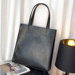 BagBuzz - 純色仿皮手提袋