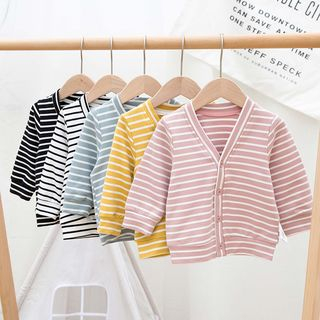 MOM Kiss - Baby Striped Jacket
