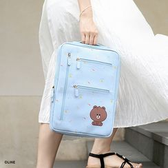 BABOSARANG(バボサラン) - 'LINE FRIENDS' Handle 13' Laptop Pouch