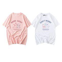JECKO - 短袖纯色印花T裇