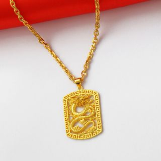 Tenri - 18K Gold Plated Dragon Pendant Necklace