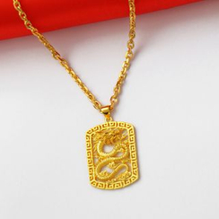 Tenri - 18K Gold Plated Dragon Pendant Necklace