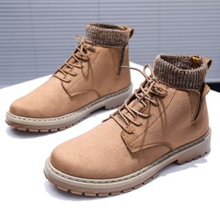 Solejoy - Lace-Up Short Boots