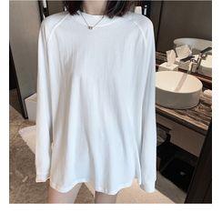 KARLY - Plain Long-Sleeve T-Shirt