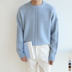 Seoul Homme - Crew-Neck Loose-Fit Sweater