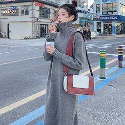 Hasu - Turtleneck Midi Sweater Dress