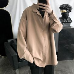 8th Sense - Long-Sleeve Plain Shirt