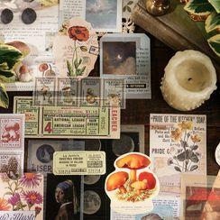 Nina's House - 復古印花日記背景裝飾紙