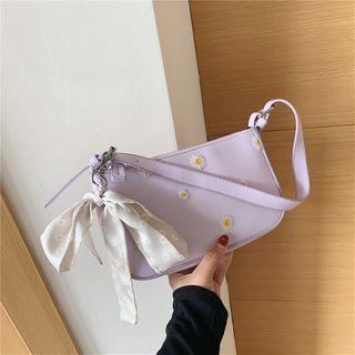 Cipres - Flower Embroidered Zip Hobo Bag