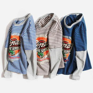 Happy Go Lucky - Kids Long-Sleeve Mock Two Piece T-Shirt
