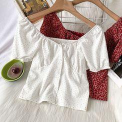 Kazarina - 短袖花朵印花衬衫