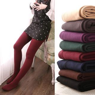 Clair Fashion - 内刷毛贴腿保暖提臀裤袜