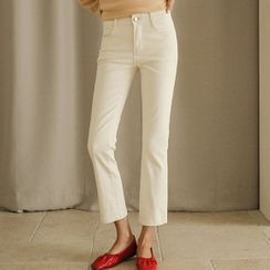 JUSTONE - Washed Straight-Cut Cotton Pants