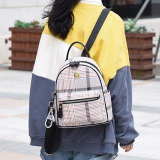 Santaka - 格纹仿皮迷你背包
