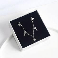 ERMIE(アーミー) - 925 Sterling Silver Key & Lock Bracelet