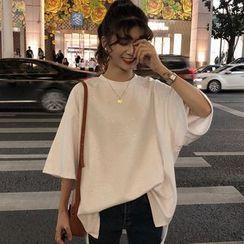 Fabricino - 3/4-Sleeve Glitter T-Shirt