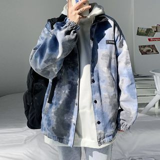 Mr. Right - Tie-Dyed Baseball Jacket