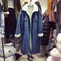 ANNZ - Fleece-Lined Denim Coat