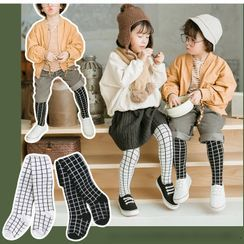Pinky Promise - Plaid Kids Tights