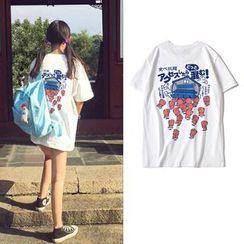 JECKO - Pig Print Short-Sleeve T-Shirt