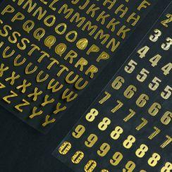 Paper House - Metallic Alphabet / Numerical Sticker