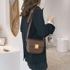 Sosara(ソサラ) - Faux Leather Crossbody Bag