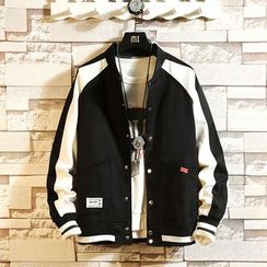 Ferdan - Color Block Baseball Jacket