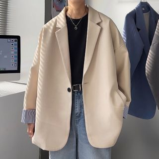 VEAZ - Stripe Panel Blazer