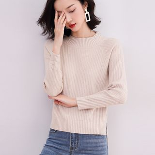 Femto - Mock-Neck Ribbed Sweater