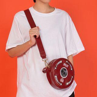 YUPIN - Embroidered Circle Crossbody Bag